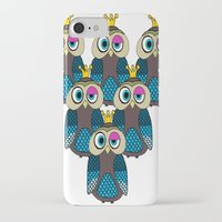 minions iPhone & iPod Cases featuring Owl Minions  by Gabriel J Galvan