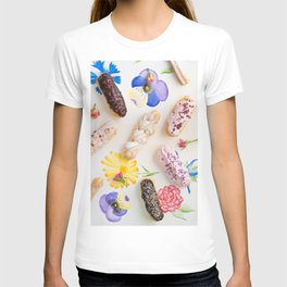 Eclairs with toppings T-shirt