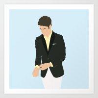 darren criss Art Prints featuring Darren Criss - Do Something Awards by laurenschroer