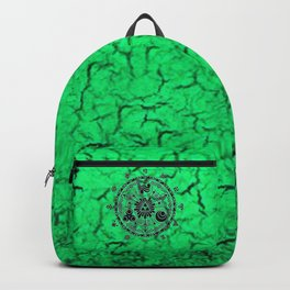 Green Circle Of Triangle Backpack