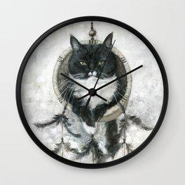 Catcatcher - dreamcatcher Wall Clock