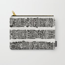 Tiki Totems – Black Carry-All Pouch