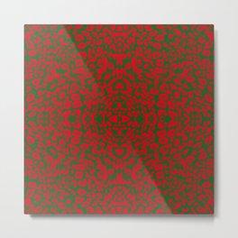 Animal Prints Pattern - Christmas Time Metal Print
