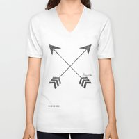 friendship V-neck T-shirts featuring Friendship by Adel