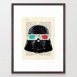 Star Wars Darth Vader Movie 3d Glasses Framed Art Print
