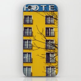 Hotel and yellow iPhone Skin