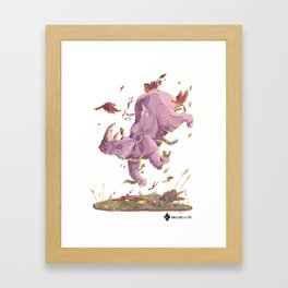 Floating Rhino Framed Art Print