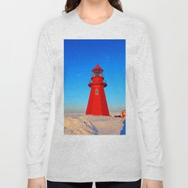 Lighthouse  and Frozen Sea Long Sleeve T-shirt