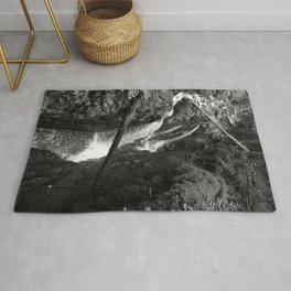 Tranquil Forest Waterfalls Rug