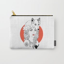 The Girl and the Wolf Carry-All Pouch