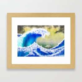 The GreatWave Interpretation Framed Art Print