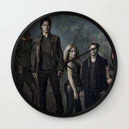 The Vampire Diaries Cast Wall Clock