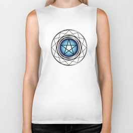 Glowing Pentagram Biker Tank