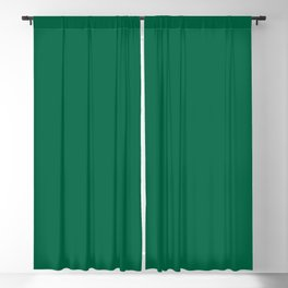 Green Bamboo Solid Color Block Blackout Curtain