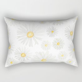 white daisy pattern watercolor Rectangular Pillow