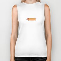 hot dog Biker Tanks featuring Hot Dog by Freakin' Monsters