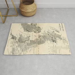 Vintage and Retro Geological Map British Isles Rug