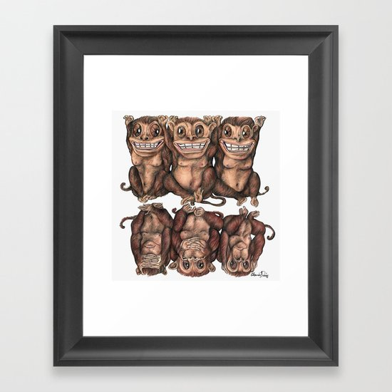 Emancipated Monkeys  Framed Art Print