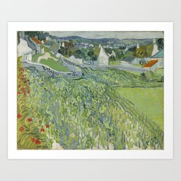 Vineyards at Auvers Art Print