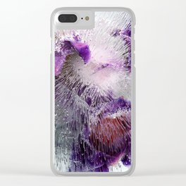 Frozen purple Clear iPhone Case