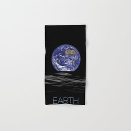 NASA-planet-asteroid poster Hand & Bath Towel