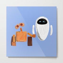Wall-E and Eve Metal Print