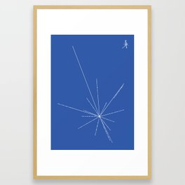 Voyager Golden Record Fig. 3 (Blue) Framed Art Print