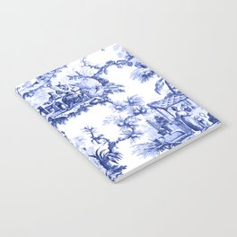 Blue Chinoiserie Toile Notebook