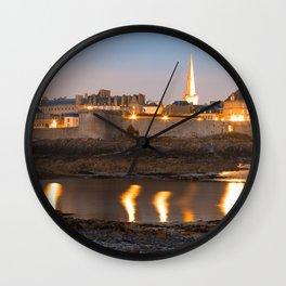 Saint Malo Twilight Wall Clock