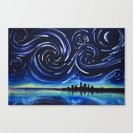 Starry Night in Cleveland Canvas Print