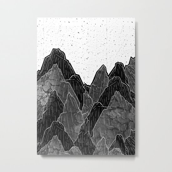 Dark Moon Mounts Metal Print
