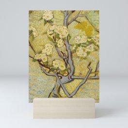 Small Pear Tree in Blossom Mini Art Print