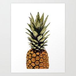 Pineapple print,tropical art,minimalist,modern art,palm print,pineapple decor Art Print