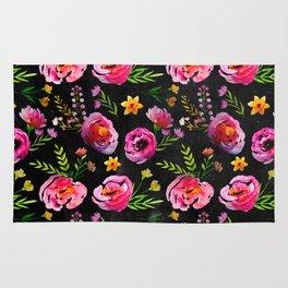 Vibrant Poppy Pattern Rug