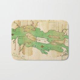 Vintage Map of Lake Champlain (1740) Bath Mat
