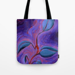 Electric Philodendron Tote Bag