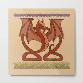 Red Dragons Metal Print