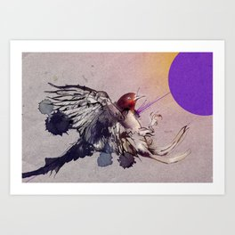 Shot without colliding Art Print