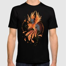 The Avian Arsonist Black Mens Fitted Tee LARGE
