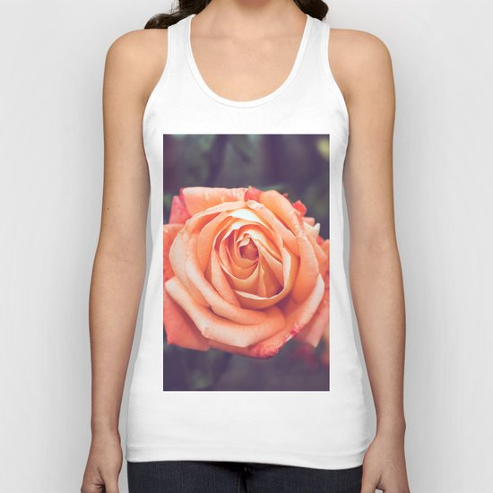 Orange Rose Unisex Tank Top