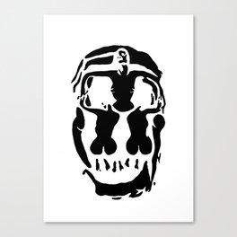 Surrealistic skull inspired by Salvador Dali photo Canvas Print