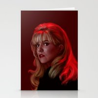 laura palmer Stationery Cards featuring Laura Palmer from Twin Peaks by Annike