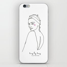 Bohemian girl in fashion model boho iPhone Skin