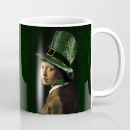 Girl With A Shamrock Earring Coffee Mug