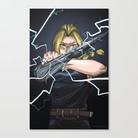 fullmetal alchemist Canvas Prints featuring Fullmetal by Eli Benik