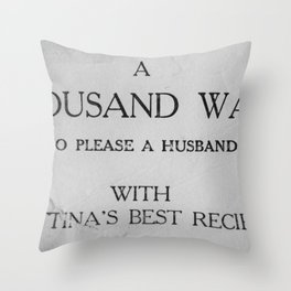 That's a lot of husband pleasing... Throw Pillow