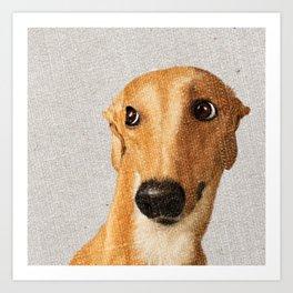 Shy Dog Art Print