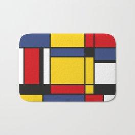 Downtown, Tribute to Mondrian Bath Mat
