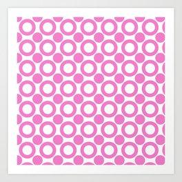 Dot 2 Pink Art Print
