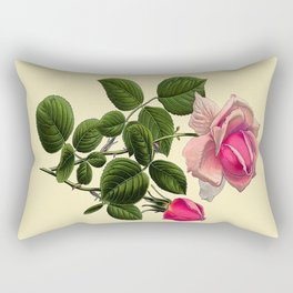 Pink Tea Rose Rectangular Pillow